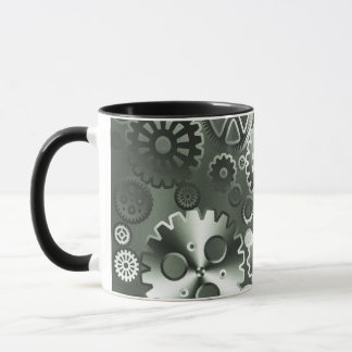 Steel metallic gears mug
