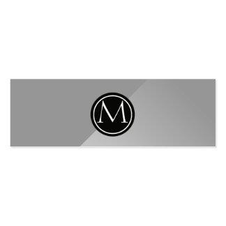 Steel Monogram Pack Of Skinny Business Cards