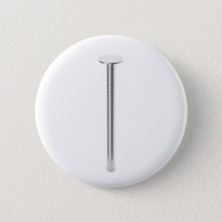 Steel nail 6 cm round badge