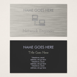 """Steel"" Network Engineer Business Cards"