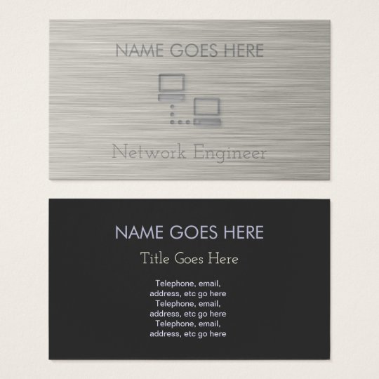 """Steel"" Network Engineer Business Cards"