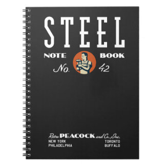 Steel Notebook by Retro Peacock