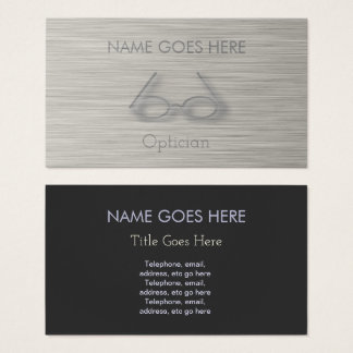 """Steel"" Optician Business Cards"