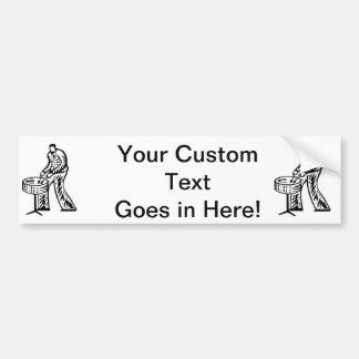 Steel Pan Player outline Bumper Sticker