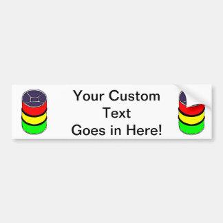 Steel Pan Rasta colors Steel Drum Design Graphic Bumper Sticker