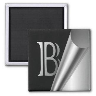 """Steel Peel Monogram """"B"""" Magnet"""