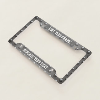 Steel Plate Pattern With Round Bumps Licence Plate Frame