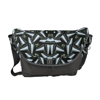 Steel Ribbon Fractal Abstract with Steel Accent Commuter Bag