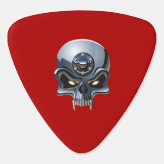 steel skulls guitar pick/DIY text Guitar Pick