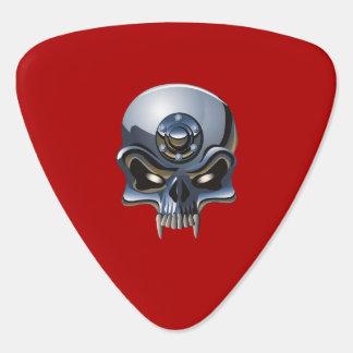 steel skulls guitar pick/DIY text