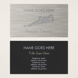 """Steel"" Snooker Business Cards"