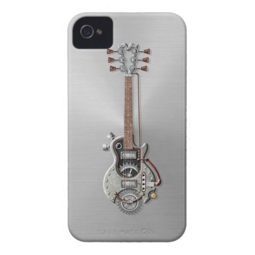 Steel Steampunk Guitar Blackberry Bold Cover