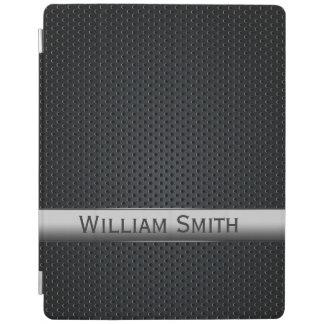 Steel striped dark metal iPad cover