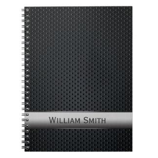 Steel striped dark metal note books