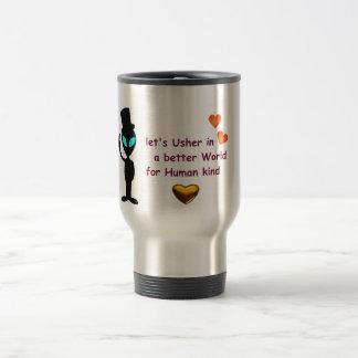 Steel Travel Mug - Alien Peace Call
