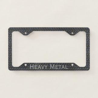 Steel Tread Custom License Plate Frame