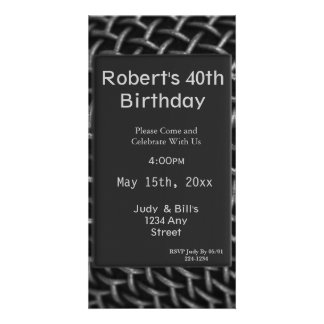 Steel Wire Birthday Personalized Photo Card