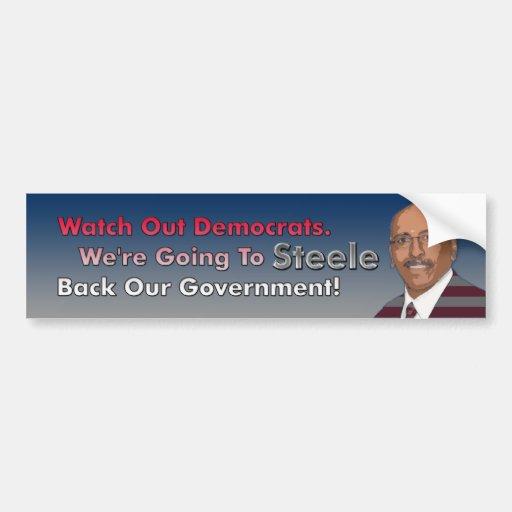 Steele Back Our Government Bumper Sticker