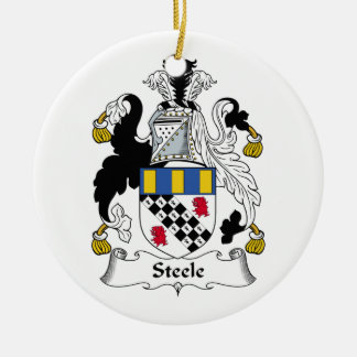 Steele Family Crest Ceramic Ornament
