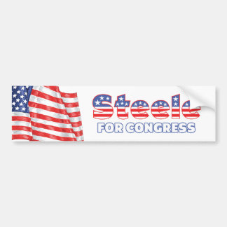 Steele for Congress Patriotic American Flag Bumper Stickers