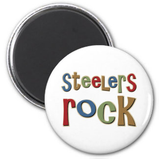 Steelers Rock 6 Cm Round Magnet