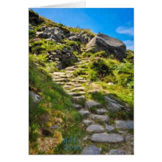 Steep Mountain Steps Greetings Card. Card