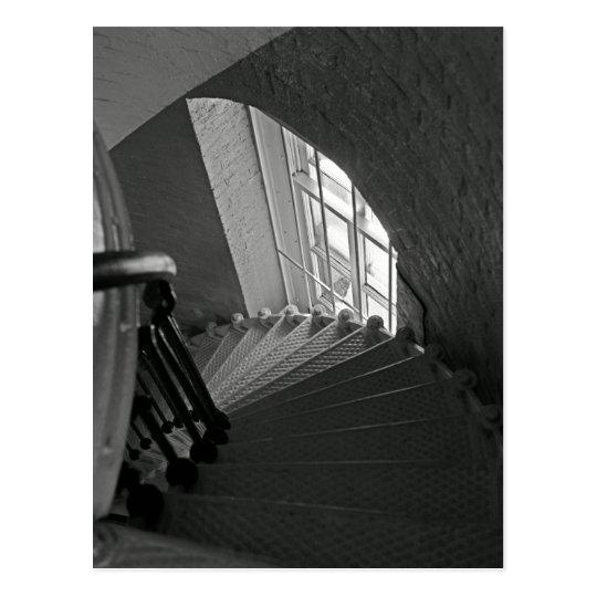 Steep Stairs Down Postcard