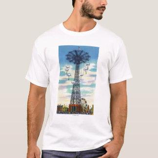 Steeplechase Park Parachute Jump Daytime Scene T-Shirt