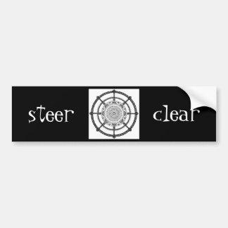 Steer Clear Bumper Sticker / Steering Wheel Bumper