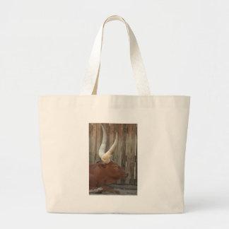Steer With Big Horns Bag