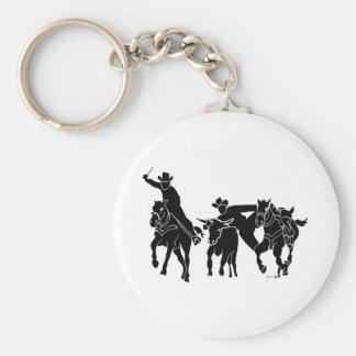 Steer Wrestling 1 Key Ring