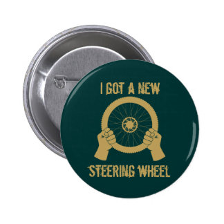 Steering wheel 6 cm round badge
