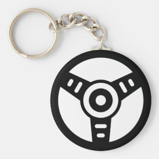 Steering wheel basic round button key ring