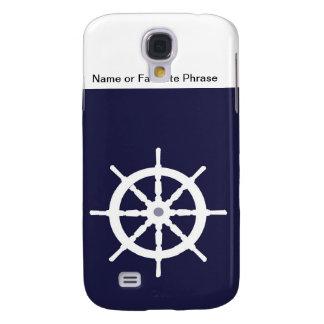 Steering wheel on navy blue background. HTC vivid / raider 4G case