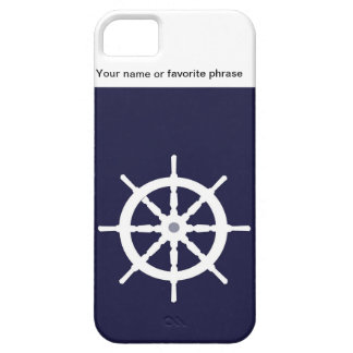 Steering wheel on navy blue background. iPhone 5 covers