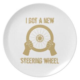 Steering wheel plate