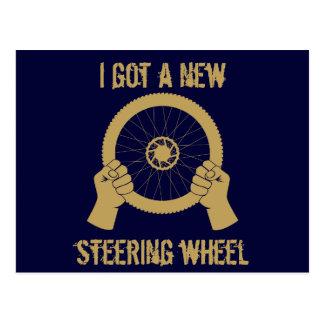 Steering wheel postcard