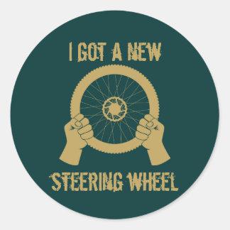 Steering wheel round sticker