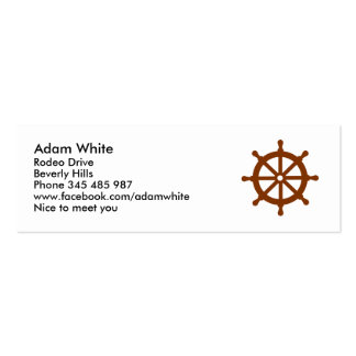 Steering wheel - ship business card templates