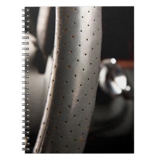 Steering wheel spiral note book