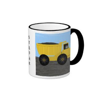 Stefan Dump Truck Personalised Name Mug