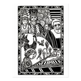 Stefan Tells The Princess A Story Postcard
