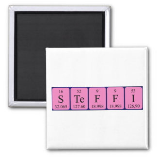 Steffi periodic table name magnet