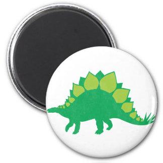 Stegosaurus 6 Cm Round Magnet