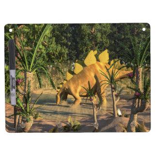 Stegosaurus dinosaur - 3D render Dry Erase Board With Key Ring Holder