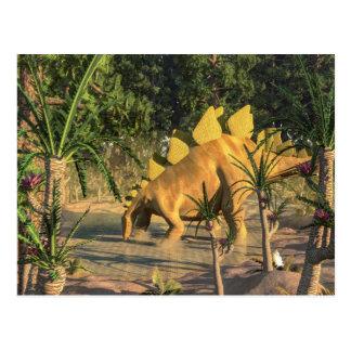 Stegosaurus dinosaur - 3D render Postcard