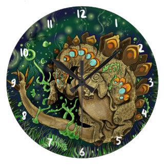 Stegosaurus Dinosaur Art Large Clock