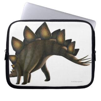 Stegosaurus dinosaur, computer artwork. laptop computer sleeves