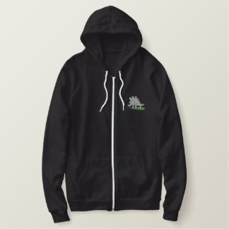 Stegosaurus Embroidered Hooded Sweatshirt