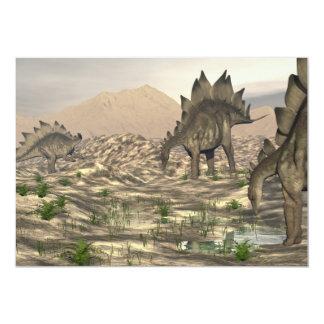 Stegosaurus near water - 3D render Card